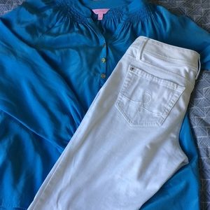 Lilly Pulitzer White Worth skinny jean